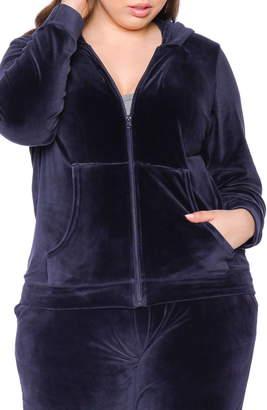 SLINK Jeans Velour Zip Hoodie