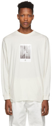Marcelo Burlon County of Milan Beige Rose Square Long Sleeve T-Shirt