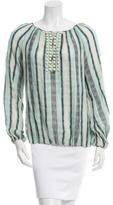 Tory Burch Striped Linen Top