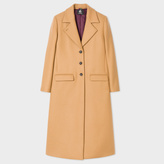 Paul Smith Women's Camel Wool-Cashmere Long Epsom Coat