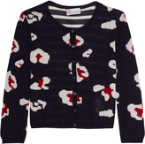 RED Valentino Jacquard-knit cashmere and silk-blend cardigan