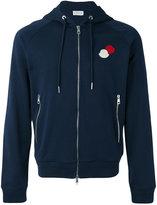Moncler logo plaque hoodie - men - Cotton - M