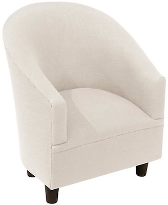 One Kings Lane Ashlee Kids' Chair - Talc Linen - frame, espresso; upholstery, talc