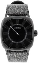 Nixon Men's A012-288 Leather Synthetic with Dial Watch