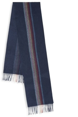 Paul Smith Central Artist Stripe Cashmere Scarf