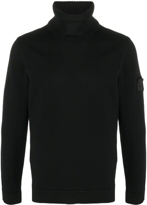 Stone Island Shadow Project Ribbed Wool Turtleneck Jumper