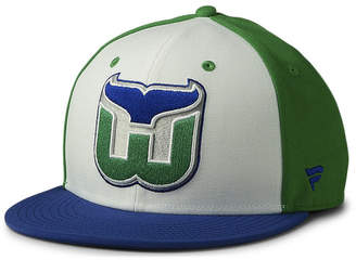 Authentic Nhl Headwear Hartford Whalers Tri-Color Throwback Snapback Cap