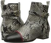 Just Cavalli Laminated Crackle Crossover Sandal Women's Sandals