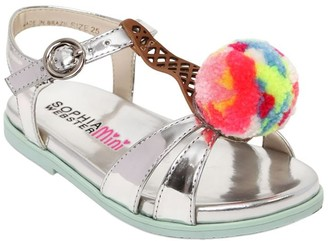 Sophia Webster Loni Ice Cream Metallic Leather Sandals