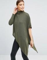 AX Paris Asymmetric Knitted Polo Top