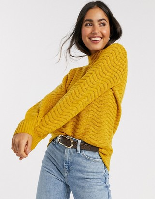 Y.A.S Brentrice knit jumper in yellow
