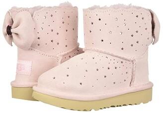 UGG Mini Bailey Bow II Starry Lite (Toddler/Little Kid) (Seashell Pink) Girl's Shoes