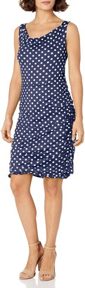 Star Vixen Women's Petite Rouched Sweetheart Neckline Stretch Ity Bodycon Dress