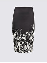 M&S Collection Floral Print Pencil Midi Skirt