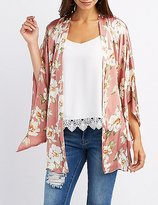 Charlotte Russe Floral Belted Kimono