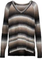 Tart Collections Bary Faux Leather-Trimmed Dégradé Stretch-Knit Sweater