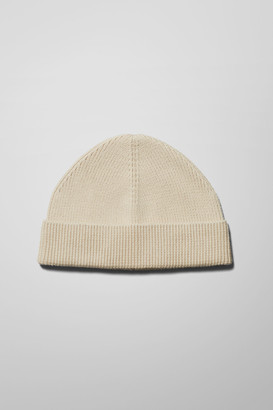 Weekday Stan Cotton Beanie - Beige