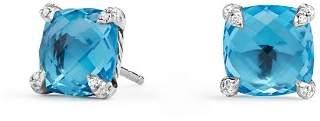 David Yurman Châtelaine® Stud Earrings with Blue Topaz and Diamonds
