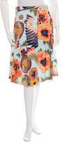 MSGM Floral Print Flare Skirt