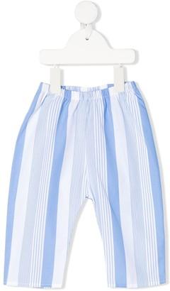 Douuod Kids Striped Straight-Leg Trousers