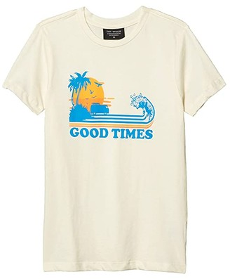 Tiny Whales Good Times T-Shirt (Toddler/Little Kids/Big Kids) (Natural) Boy's Clothing