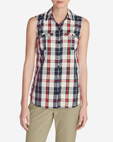 Eddie Bauer Women's Mountain Textured Sleeveless Shirt