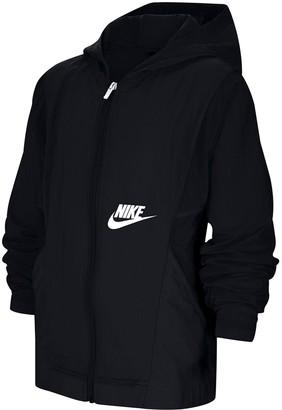 Nike Older Boys Woven Jacket - Black