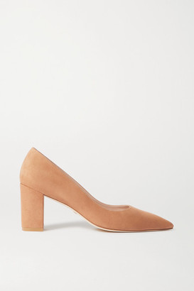 Stuart Weitzman Laney 75 Suede Pumps - Tan
