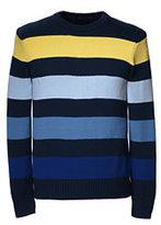 Classic Men's Tall Drifter Cotton Stripe Crew Sweater-Red Grape