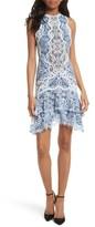 Jonathan Simkhai Women's Two-Tone Lace Ruffle Hem Minidress