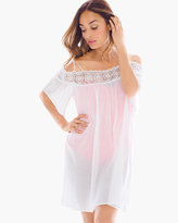 Chico's Off-the-Shoulder Swim Cover-up Dress