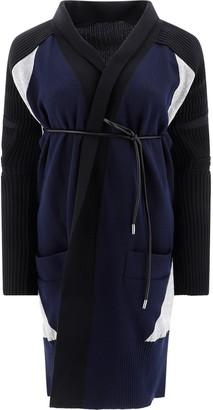 Sacai Knitted Belted Cardigan