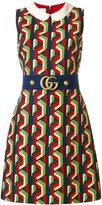 Gucci belted print dress