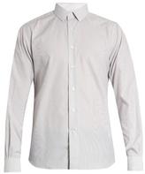 Valentino Buttoned-cuff striped cotton shirt