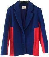 American Retro Blue Wool Jacket for Women