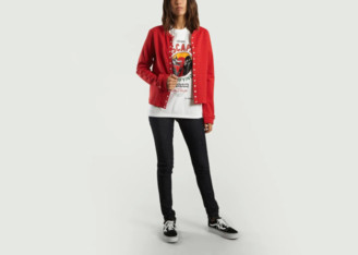 agnès b. Red Cotton Rosana Pressure Cardigan - cotton   red   1 - Red/Red