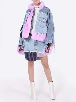Natasha Zinko patchwork denim and fleece jacket