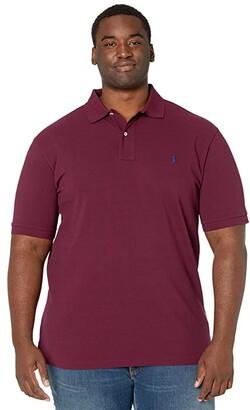 Polo Ralph Lauren Big & Tall Big Tall Basic Mesh Short Sleeve Custom Slim Fit Polo (Classic Wine) Men's Coat