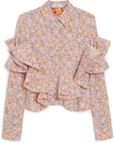 Mulberry Anneli Blouse Lilac Flower Silk