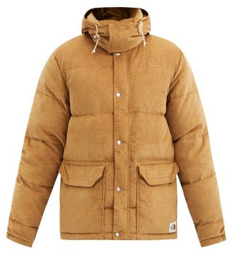 The North Face Sierra Hooded Quilted Down Cotton-corduroy Coat - Brown
