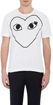 Comme des Garcons Men's Heart-Graphic T-Shirt-WHITE