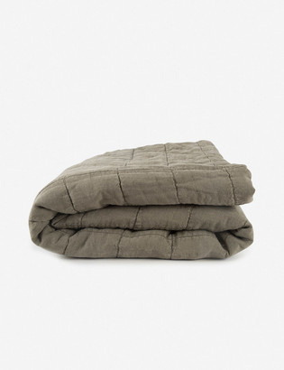 Lulu & Georgia Hawkins New York Simple Linen Quilt, Olive