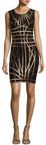 Herve Leger Romee Metallic Caging Bodycon Dress