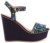 Tory Burch Sonoma Embroidered Platform Sandals