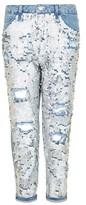 Topshop PETITE Shimmer Sequin Hayden Jeans