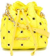 Moschino quilted bucket crossbody bag