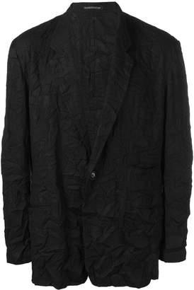 Yohji Yamamoto creased effect blazer