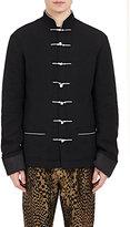 Haider Ackermann Men's Mandarin-Collar Jacket-BLACK
