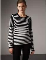 Burberry Graduated Stripe Merino Wool Sweater