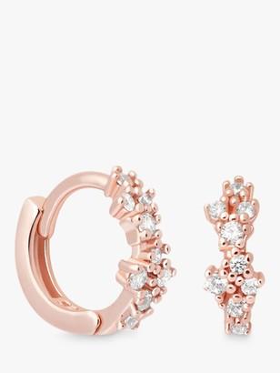 Astrid & Miyu Mystic Cubic Zirconia Huggie Hoop Earrings